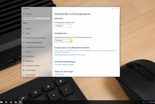 Beitragsbild Windows 10 Ruhemodus
